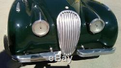 Early 50's Vintage Jaguar XK120 Pedal Car. Extremely Rare. Authentic. Made In UK