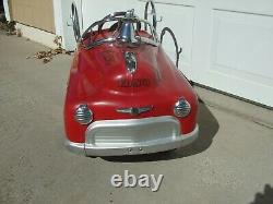 FIRE FIGHTER PEDAL CAR NICE CONDITION ORIGINAL 1980's VINTAGE