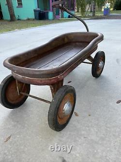 Fabulous 1949 Vintage MERCURY Childs Metal Pull Wagon