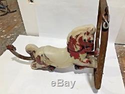 Gametime Poly Resin Horse Saddle Mates Vintage Swing Playground Ride Frame VTG