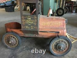 Garton Casey Jones Train Pedal Vintage Car Cannonball Express No. 9 Original