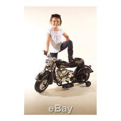 Giggo Toys Little Vintage 6V Battery Powered Indian Motorcycle Black