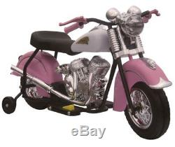 Giggo Toys Little Vintage 6V Battery Powered Indian Motorcycle Pink