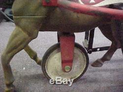 HAMILTON Antique Vintage Rubber RACE HORSE RIDE Pedal PEDDLE Car Toy Tricycle