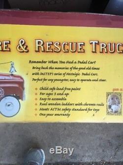 InStep Fire & Rescue Truck Pedal Car Vintage Item