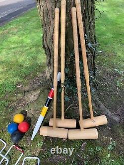 Jaques London Lillywhites Vintage Croquet Set Good Condition Garden Games Summer