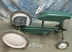 John Deere Pedal Car Oliver Tractor Power Steering Vintage Farm Ride On Toy