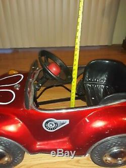 Junior Sportsters Metal Pedal Car VW Bug Red TS-110 Vintage Shape Works original