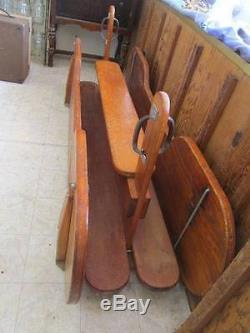 Kiddie Cayuse Vintage Original Wooden Playground Ride / Swinging / Glider / Toy