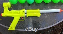 Larami Super Soaker Water Gun Lot Belt Vintage Works Used Canister