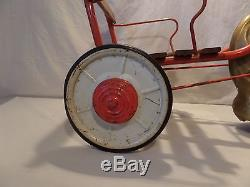 (Lot #163) Vintage Ride On Pedal Toy Mobo Horse and Carriage