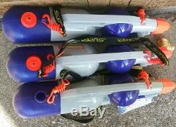 Lot of 3 Vintage Larami Super Soaker CPS 1000 Water Gun Strap Used Works