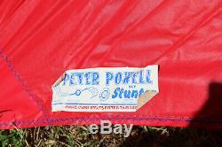 Lot of 3 Vintage Peter Powell Sky Stunter Dual Line Stunt Kites Red Yellow Blue