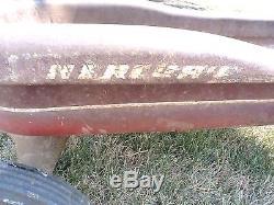 Mercury Steel Coaster Torpedo-style Red Wagon, Rolls Great! Vintage Or Restore