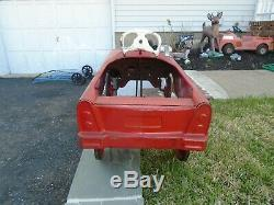 Murray Fire Chief Pedal Car Vintage 1960s City Fire Department