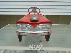 Murray Fire Truck Pedal Car City Battalion No. 1 Vintage 1960s