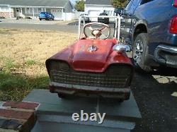 Murray Fire Truck Pedal Car Parkleigh Deluxe Battalion Vintage 1960s