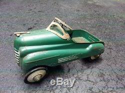 Murray Steel Craft Pontiac Pedal Car, Vintage 40's, 50's. All original paint