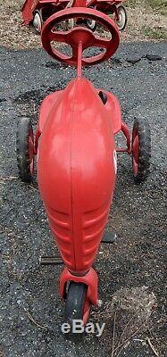 Murray Trac Jet Flow Farm Pedal Tractor 2 Dump Wagon Cart VTG Ride Sign Kiddie