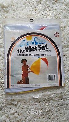 NEW 1982 Vintage The Wet Set Inflatable 48 Jumbo Beach Ball Beachball #59070
