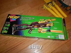 NEW OPEN BOX 1995 Vintage Kenner Nerf Crossbow Purple Dart Blaster Arrow Gun