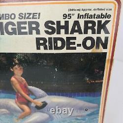 NEWithSealed box Vintage 1987 INTEX Wet Set 95 INFLATABLE TIGER SHARK RARE