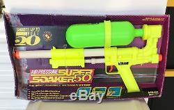 NIB Vintage 1990 LARAMI SUPER SOAKER 50 Water Squirt Gun RARE NEVER USED Toy