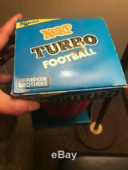 Nerf TURBO Football Red & Black Vintage 1989 Parker Brothers