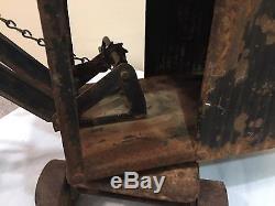 OLD ANTIQUE VINTAGE 1920's STEAM SHOVEL LOADER RIDE ON PRESSED STEEL