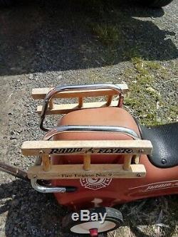 OLD Vintage Radio Flyer Ride On Toy
