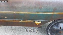 Old School Vintage Original Metal Amf Gto Pedal Car Still Drivable Toy Pedal Car