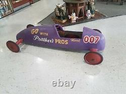 Old Vintage Original 1950's Wood Soap Box Derby Race Car FT Myers FL Florida 007