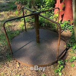 Original 1950s Vintage Metal Playground Merry Go Round 4 Foot Diameter Steel
