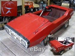PEDAL CAR RADUGA metal Vintage Toy Rainbow Soviet Russian USSR REAL RARE
