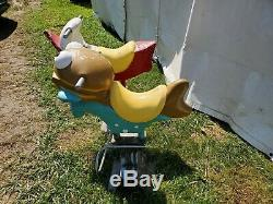 Pair of Vintage McDonald's Playground Rides Carousel Playland Boat Fillet O Fish