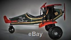 Pedal Air plane Car WW1 Vintage Red and Green Aircraft Rare Midget Metal Model