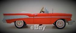 Pedal Car 1957 Chevy Vintage BelAir Red Metal Collector 1955 READ DESCRIPTION