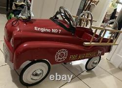 Pedal Car Fire truck fireman Vintage pick up