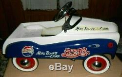 Pedal Car Pepsi Cola Vintage All Steel Child's Pedal Car Excellent Condition