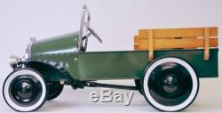 Pedal Car Pick-Up Truck Vintage Green Jalopy Model Classic Kids Midget Car NEW