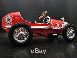 Pedal Car Race Vintage Sport Rare Show Hot Rod F1 Indy Racing Metal Midget Model