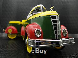 Pedal Car Rare 1940s Ford with Trailer Vintage Show Sport Midget Metal Model