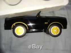 Pedal Car Trans Am 1970s Black Firebird Vintage Metal Collector READ DESCRIPTION