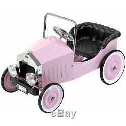 Pink Voiture Metal Vintage Antique Pedal Car Kids Toys