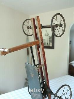RARE Antique Early 1900s 1920s Irish Mail Cart Pedal Car Hand Crank Old Vtg