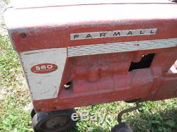 RARE VINTAGE 50s ESKA FARMALL 560 PEDAL TRACTOR NR