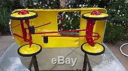 Rare Vintage Murray Champion Custom Coca Cola Metal Pedal Car Hand Painted