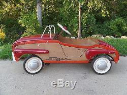 RARE Vintage 1940's STEGER Woody Pedal Car Wood Sided 100% Original SUPERB
