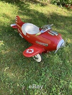 RARE Vintage Limited Edition AIRFLOW SKY KING Red PEDAL PLANE 4FT