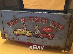 RARE Vintage Pedal Car Tow'N Fix It Kit Amsco Toys Tool Caddy